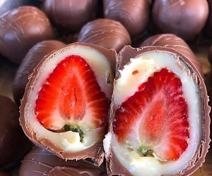 chocolate and strawberry image