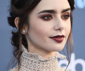 lily collins, makeup, and actress image