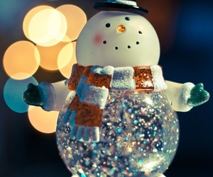 snowman, christmas, and winter image