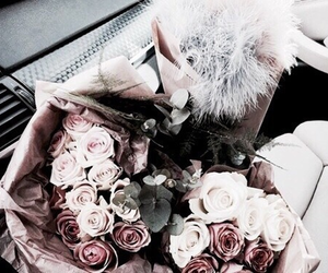 flowers, rose, and vogue image