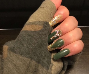 camo, gold, and green image