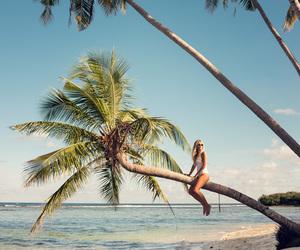girls, beach, and ocean image
