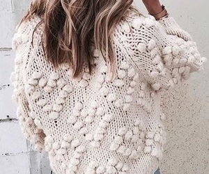 blonde, cosy, and knitwear image