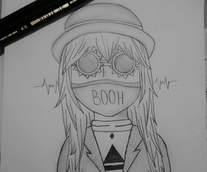 30 seconds to mars, black and white, and draw image