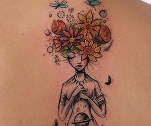 tattoo, galaxy, and girl image