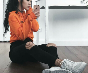 adidas, orange, and outfit image