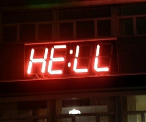 ?, hell, and red image