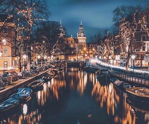 amsterdam, christmas, and city image