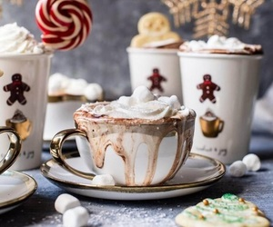 winter, chocolate, and christmas image