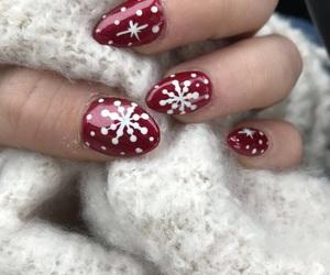 nail art, nails, and christmas nails image