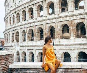 travel, rome, and yellow image