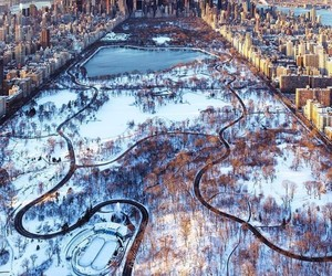 Central Park, december, and christmas image
