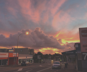 sky, sunset, and tumblr image