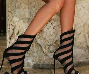 beautiful, black, and heels image