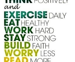 exercise, happy, and eat image