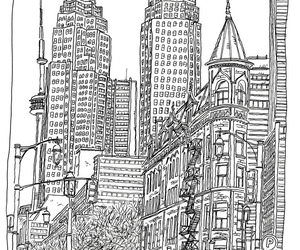 canada, sketch, and toronto image