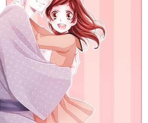hug, anime couple, and anime boy image