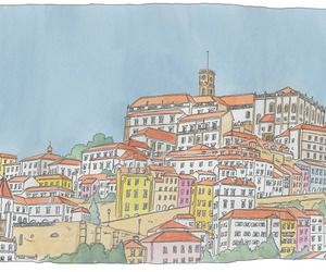 croquis, drawing, and portugal image