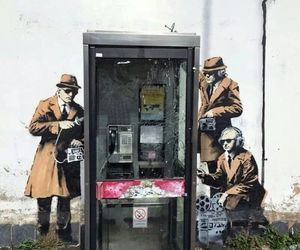 art, listen, and BANKSY image