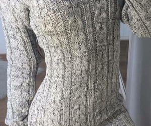 dress, grey, and winter image