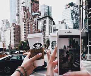 starbucks, city, and travel image