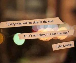 quotes, john lennon, and end image
