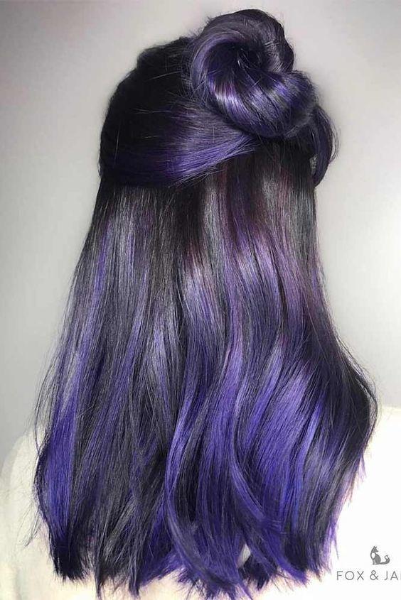 Purple Black Hair Tumblr