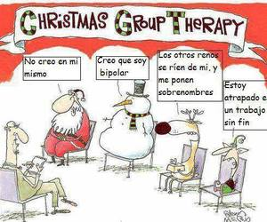 xmas, group therapy, and itschristmastime image