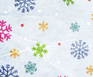 wallpaper, snow, and snowflake image