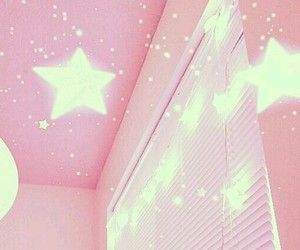 pink, stars, and aesthetic image