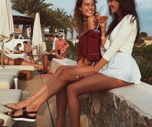 besties, summer, and friendship image