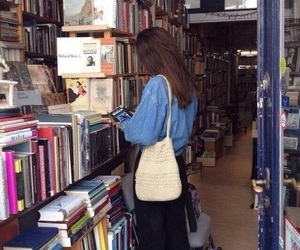 girl, book, and tumblr image