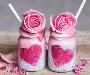 delicious, flowers, and smoothie image