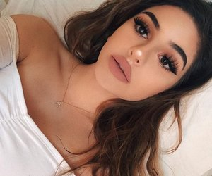 beauty, lashes, and outfit image