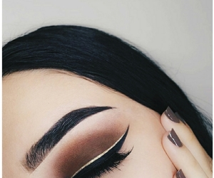 aesthetic, make-up look, and smokey eyes image