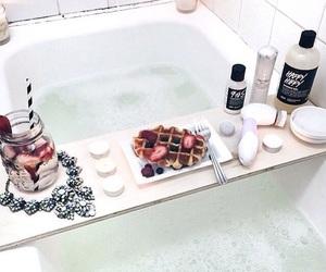 bath, lush, and food image