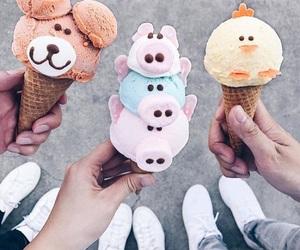 ice cream, food, and animals image