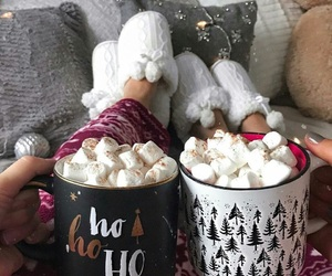 cozy, holidays, and hot ​chocolate image