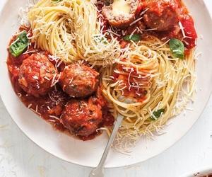 food, pasta, and spaghetti image