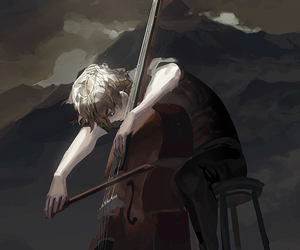 anime, bass clef, and drawing image