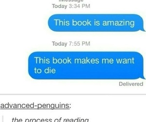 funny, book, and tumblr image