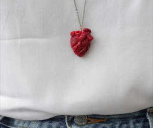 accessories, heart, and red image