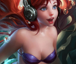 ariel, art, and girl image