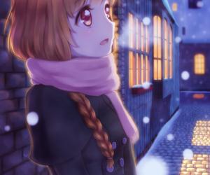 anime, anime girl, and christmas image