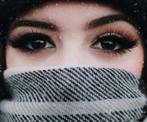 cold, eyes, and girl image