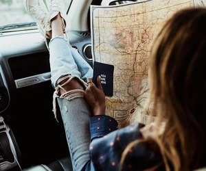 travel, map, and wanderlust image