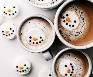 coffe, winter, and drinks image