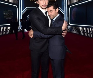 star wars, oscar isaac, and adam driver image