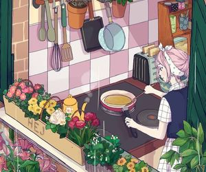 alone, cooking, and art image