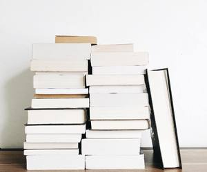 books, white, and aesthetic image